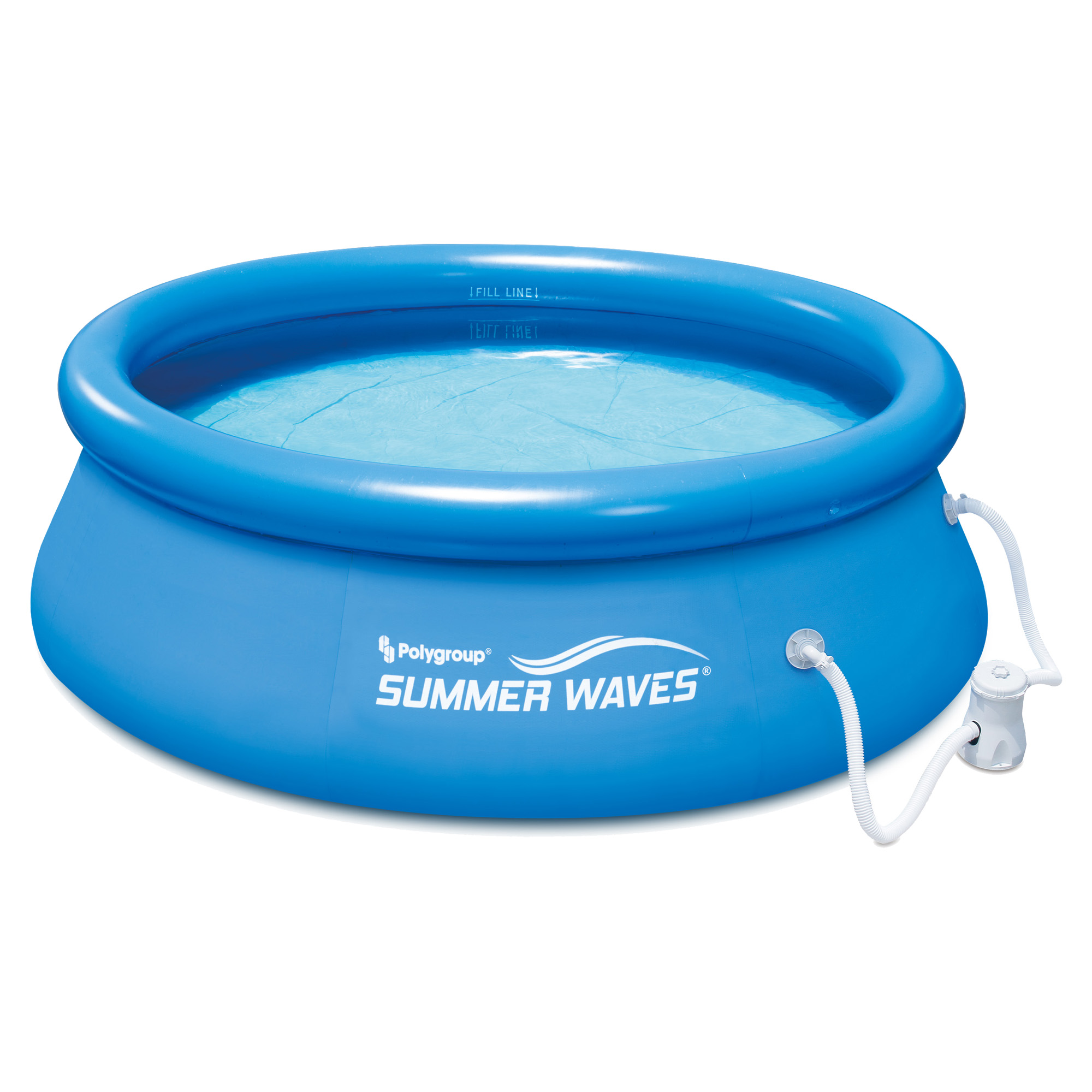 summer waves 8 ft quick set inflatable above ground pool with filter pump