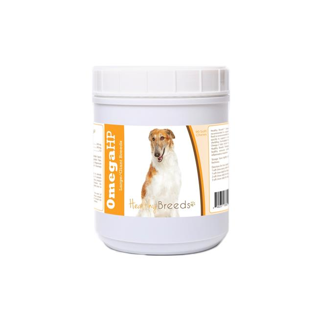 Healthy Breeds 840235187622 Borzois Omega HP Fatty Acid Skin & Coat Support Soft Chews - image 1 of 1