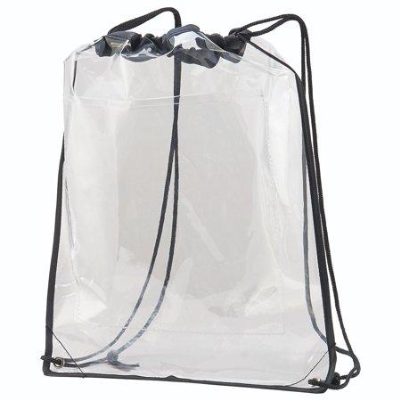 Augusta CLEAR CINCH SACK CLR/BK - Clear Cinch Bag