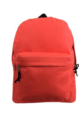 fbe63b15ad5 Product Image Backpack Classic School Bag Basic Daypack Simple Book Bag 16  Inch F. Pink