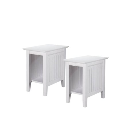 Set Of 2 Side Table In White