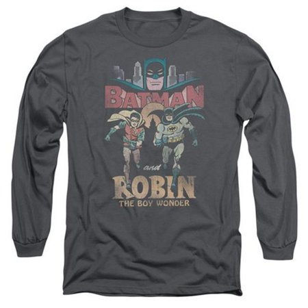 Trevco Batman Classic Tv-Classic Duo - Long Sleeve Adult 18-1 Tee - Charcoal, Small