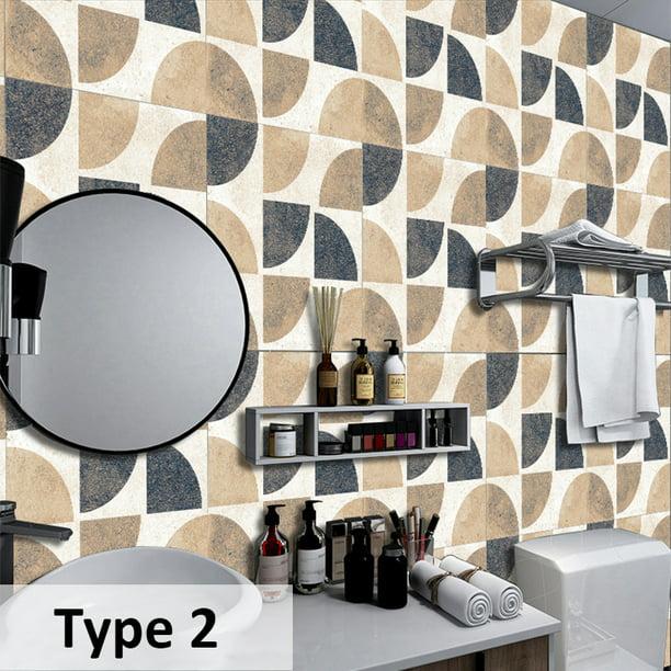20pack 8x8inch Stick Wallpaper Kitchen Wallpaper Bathroom Self Adhesive Wall Paper Waterproof Countertop Removable Wallpaper Backsplash Decoration Walmart Com Walmart Com