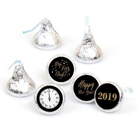 New Year's Eve - Gold - Round Candy 2019 New Years Eve Sticker Favors - Labels Fit Hershey's Kisses (1 sheet of 108)](New Years Eve Headbands)