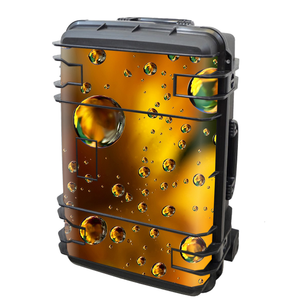 Skins Decals For Seahorse Se-920 Case / Gold Water Drops Droplets