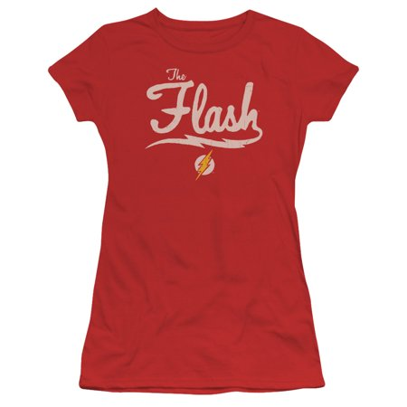 Jla - Old School Flash - Juniors Teen Girls Cap Sleeve Shirt - (Tanu Weds Manu Returns Old School Girl)