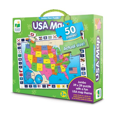 The Learning Journey Jumbo Floor Puzzles USA Map