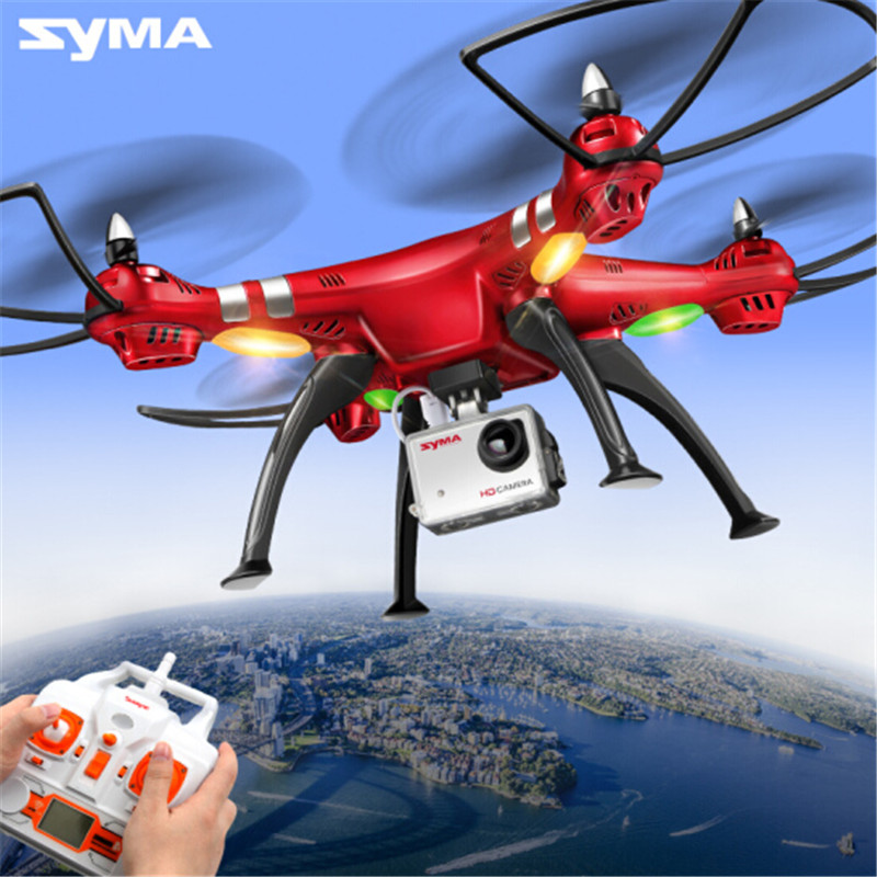 Syma X8HG 8.0MP HD Camera 2.4G 4CH 6-axis gyro RC Quadcopter Drone with Barometer Set... by