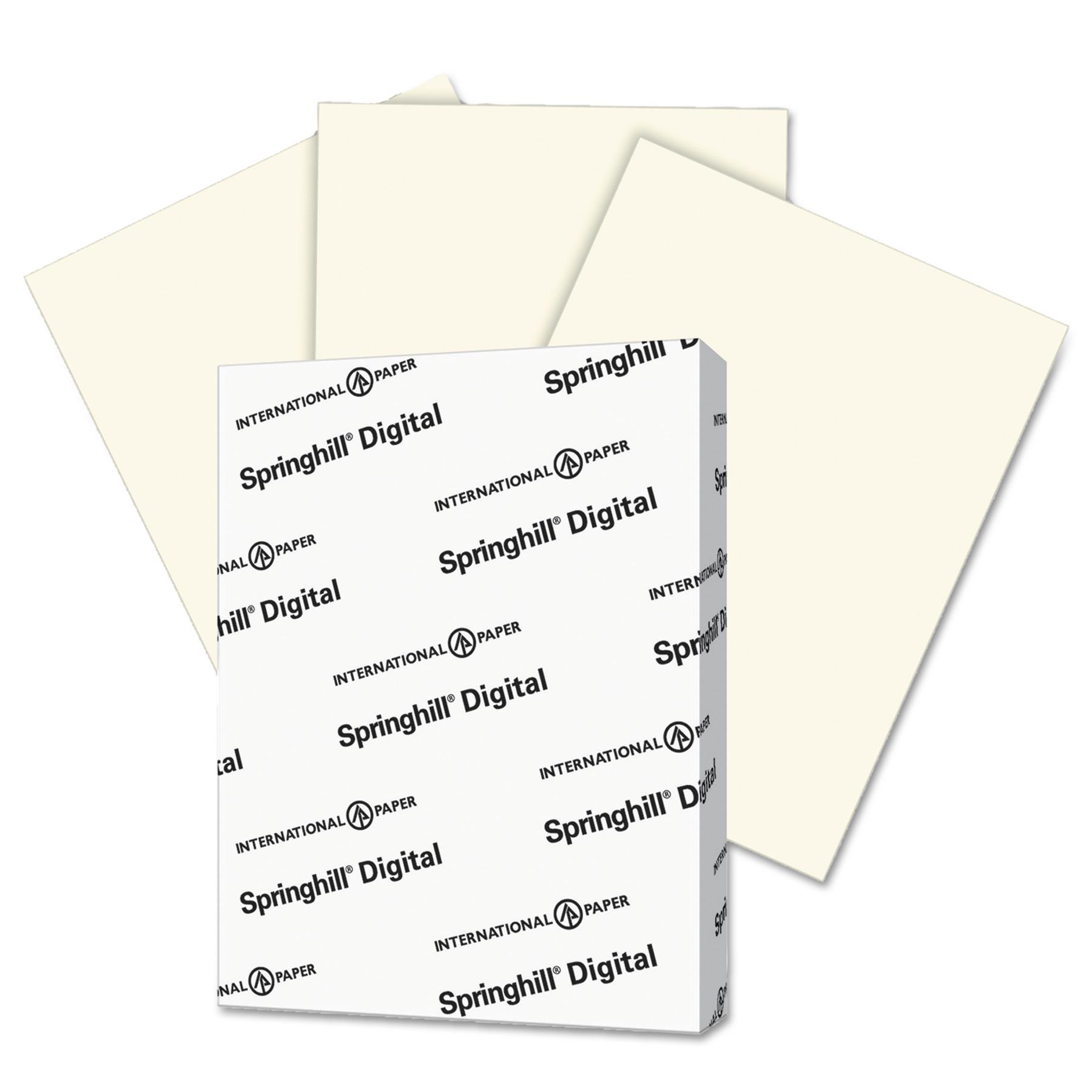Springhill Digital Vellum Bristol Color Cover, 67 lb, 8 1/2 x 11, Cream, 250 Sheets/Pack -SGH097000