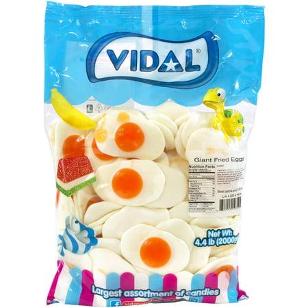Vidal Giant Fried Eggs Candy, 4.4 lbs - Gummy Fried Eggs