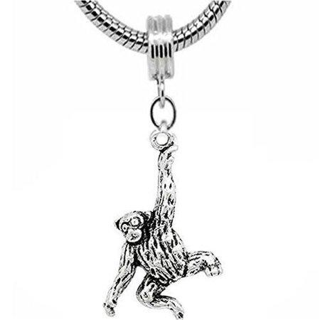 Monkey Bead Charm Dangle for snake Chain charm Bracelet](Monkey Charm)