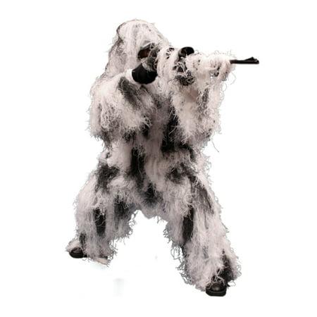 5-Piece Ghillie Suit Snow - Medium/Large (Kids Ghille Suit)