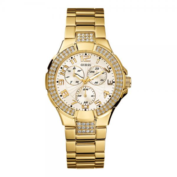 Guess Women's G13537L Status Crystal Accent Multi-Functio...