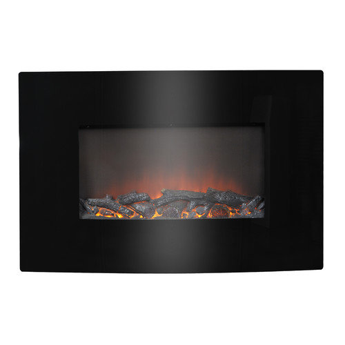 homestar flamelux 35 wide wall mount electric fireplace