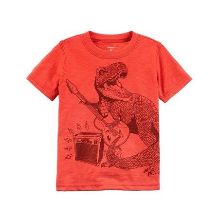 Carter's Baby Boys' Rockstar Dinosaur Slub Jersey Tee Rock Star Toddler T-shirt