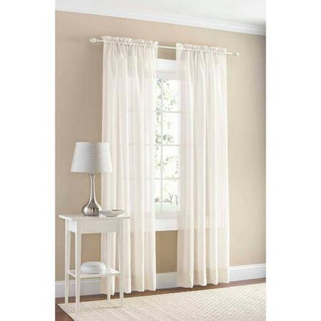 Mainstays Marjorie Sheer Voile Curtain Panel - Walmart.com