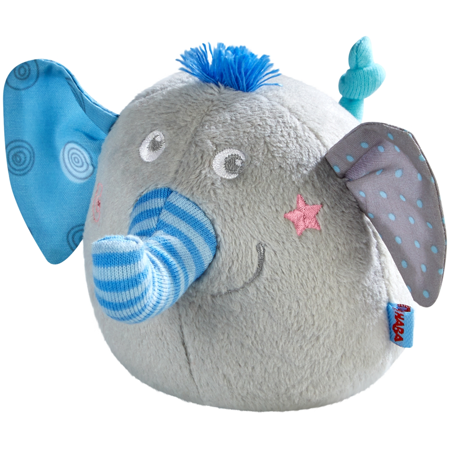HABA Clutching Toy Noah The Elephant - Soft Plush Machine Washable Baby Toy Haba Soft Toys