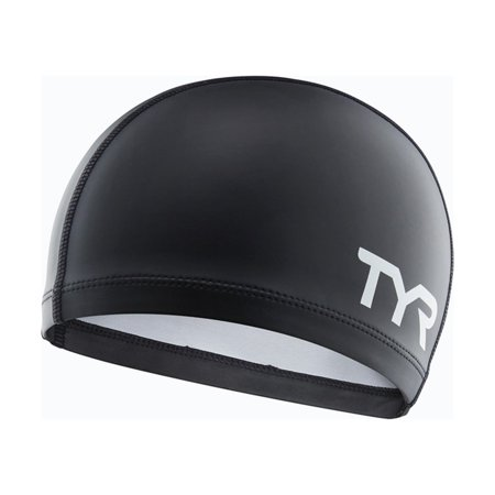 Silicone Comfort Swim Cap (Black), Polyester interior for a snag-free fit By TYR