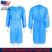 Disposable Isolation Gown Level 1 Fully Closed Double Tie Back