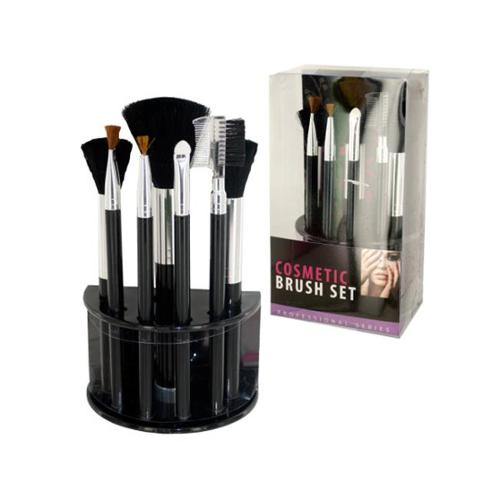 Bulk Buys OC624-16 Cosmetic Brush Set With Stand