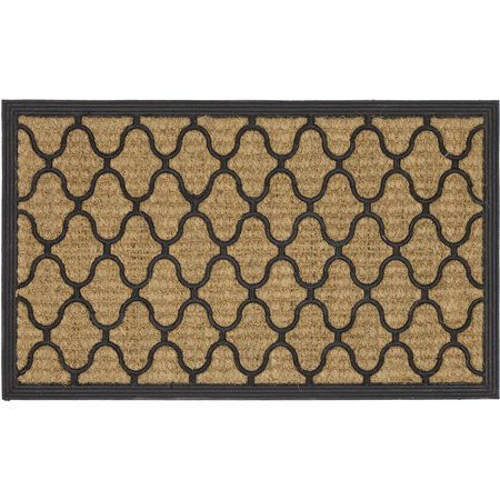 Mainstays Fret Rubber Coir Doormat, 1 Each