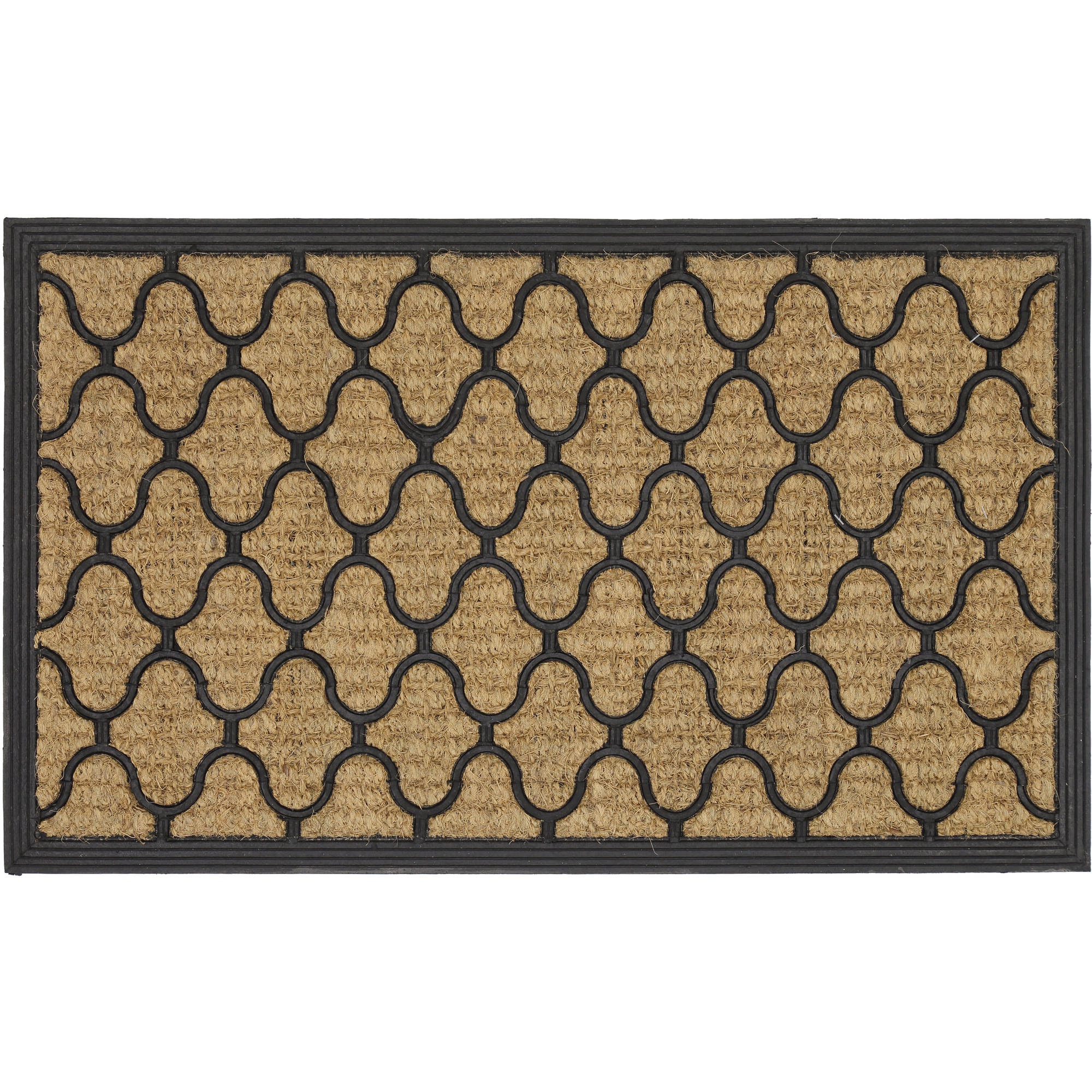 Mainstays Fret Rubber Coir Doormat