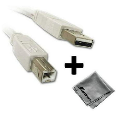 Epson Stylus Photo R2880 Printer Compatible 10ft White USB Cable A to B Plus (Epson R2880 Best Price)