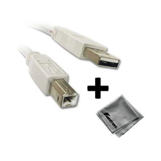 Canon Canoscan 4200f Flatbed Scanner Compatible 10ft White Usb Cable A To B P Walmart Com Walmart Com
