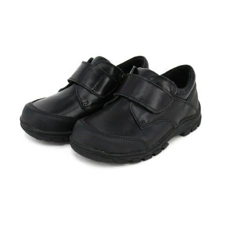 HapHappystep® Genuine Leather Toddler Little Boy School Uniform Dress Formal Shoes Monk Strap (Black) 1 Pair - image 4 of 7