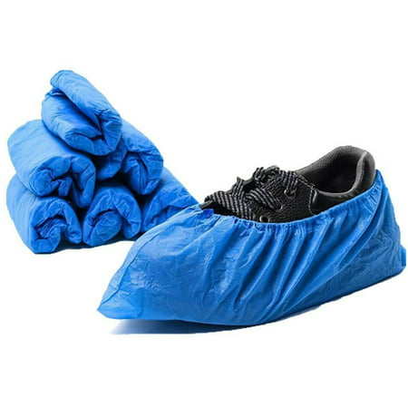 100pcs Disposable Shoe Covers Plastic Waterproof Boot Non-Slip Covers Overshoes Boot-Covers Medical New
