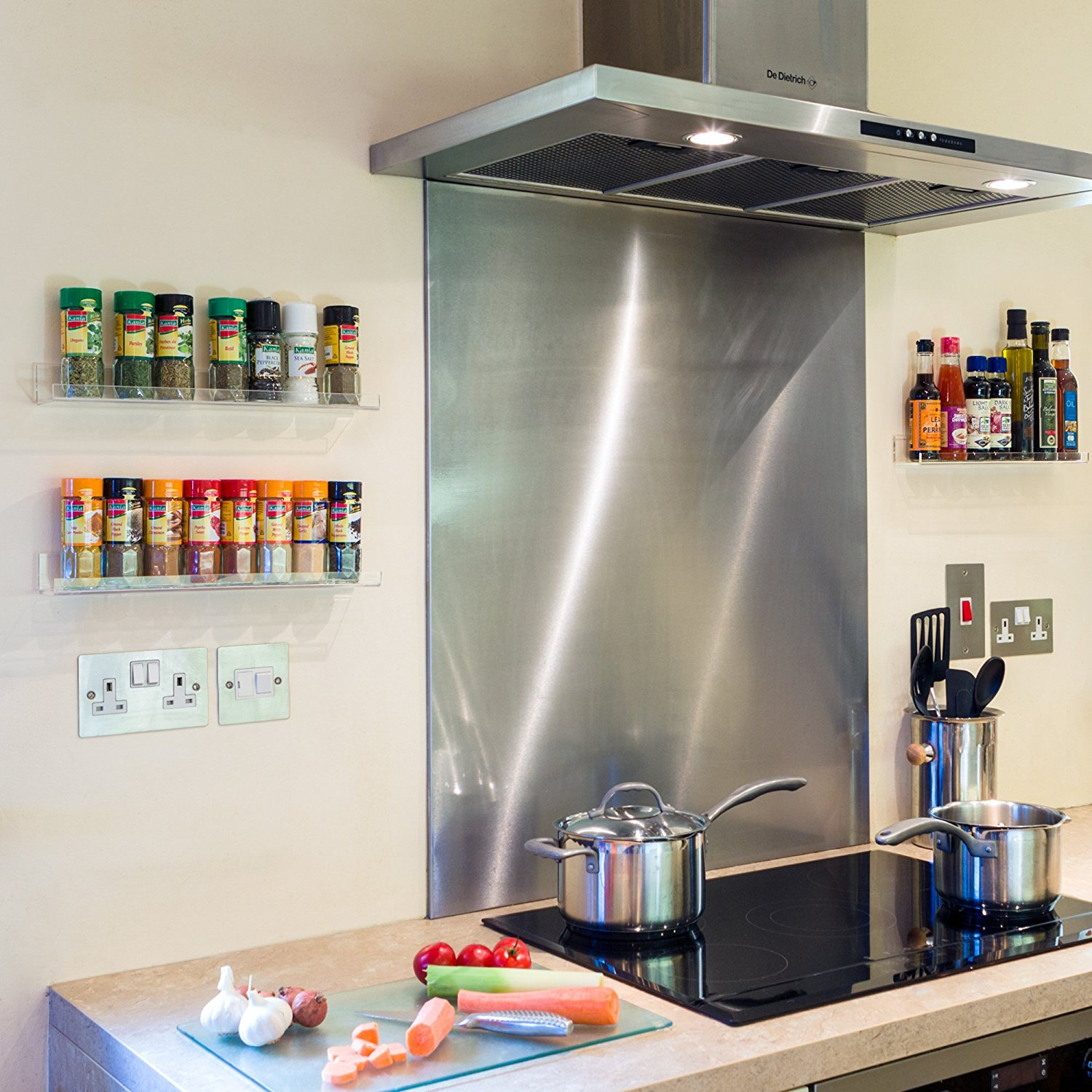 Kitchen Dining Bar The Invisible Acrylic Spice Rack The