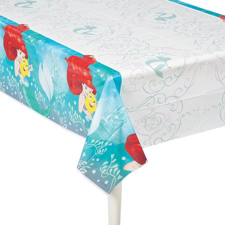 Little Mermaid Table Cover (Little Mermaid Table Cover for Birthday - Party Supplies - Licensed Tableware - Misc Licensed Tableware - Birthday - 1)