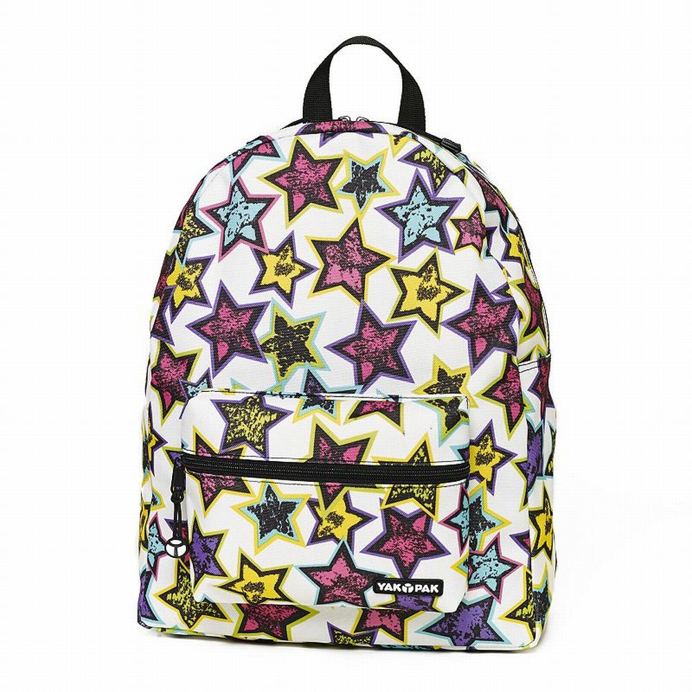 Colorful Stars Canvas Backpack Sports School Travel Pack