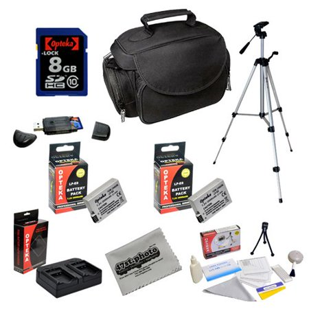 Special Offer Opteka Professional Shooters Kit with Opteka 8GB SDHC Memory Card, Microfiber Deluxe Bag, Full Size Tripod, Extended LP-E8 Batteries and More for Canon EOS Rebel T2i T3i T4i T5i DSLR Digital Camera Before Special Offer Ends