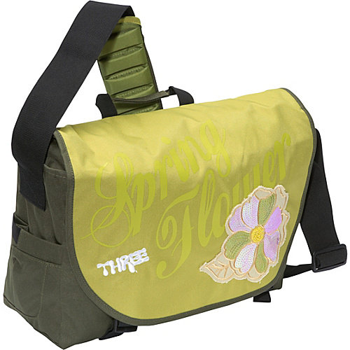 Three Spring Flower Laptop Messenger Bag