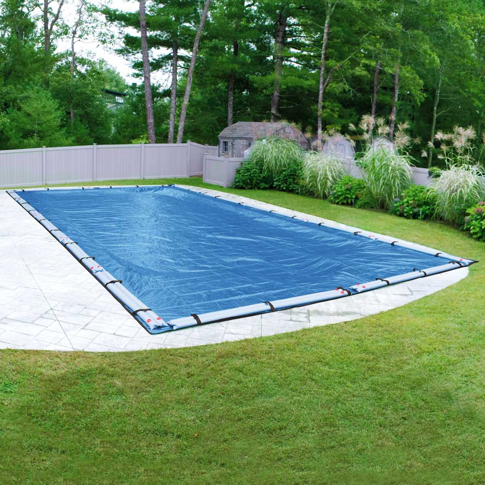 Pool Mate 10 Year Heavy-Duty Mesh Blue In-Ground Winter Pool Cover, 16 x 24 ft. Pool