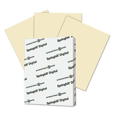 Springhill Digital Vellum Bristol Color Cover, 67 lb, 8 1/2 x 11, Ivory, 250 Sheets/Pack -SGH056000