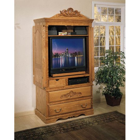 Bebe furniture country heirloom large tv armoire for Bedroom armoire with tv storage