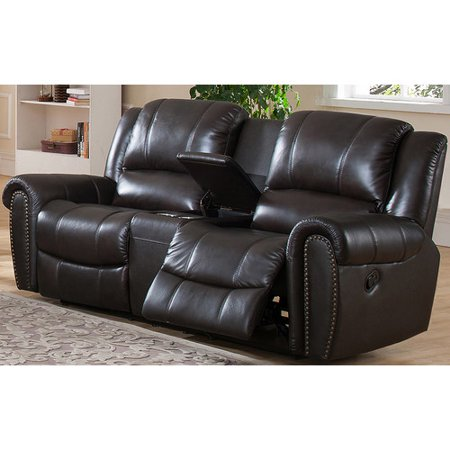 Image of Amax Charlotte Leather Reclining Sofa