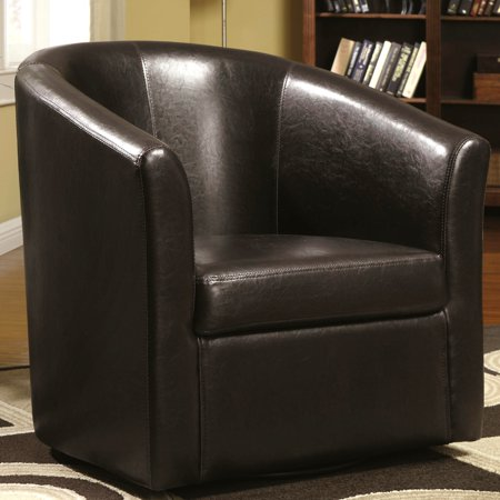 Swivel Barrel Chair - A Line Furniture Living Room Barrel Style Upholstered Swivel Accent Chair