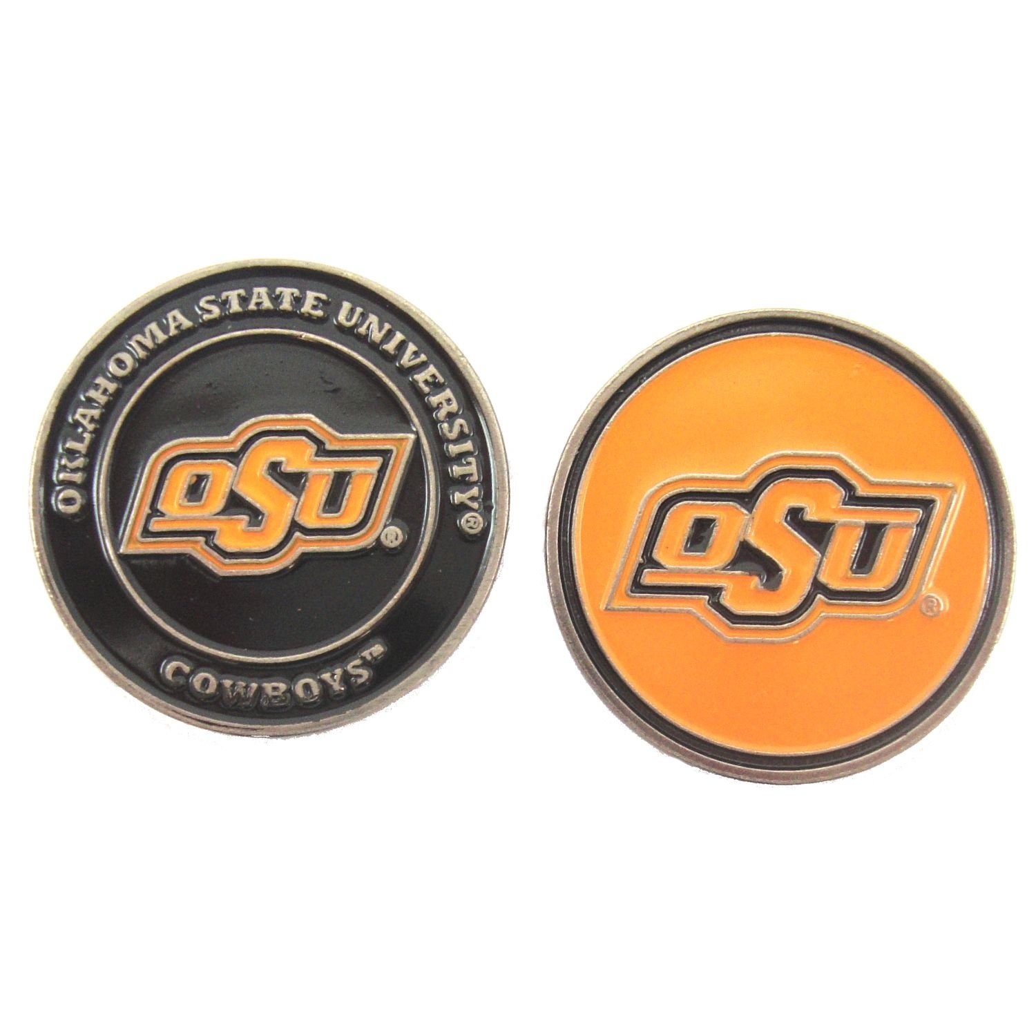 Oklahoma State Cowboys Double-Sided OSU Golf Ball Marker, 1 Team Logo Double Sided Ball Marker By Waggle Pro Shop,USA