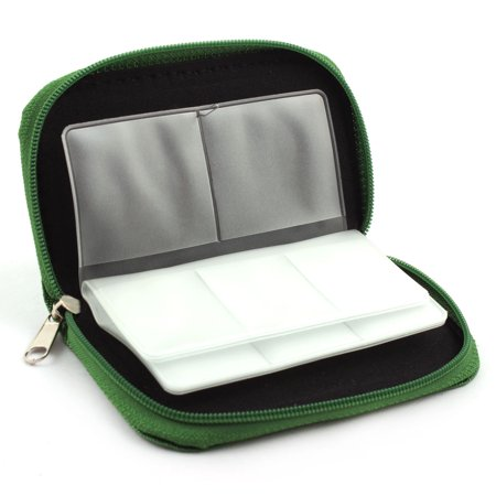 Nylon 22 Slots Storage Carrying Pouch Case Green for CF Micro SD Memory Card - image 4 of 4