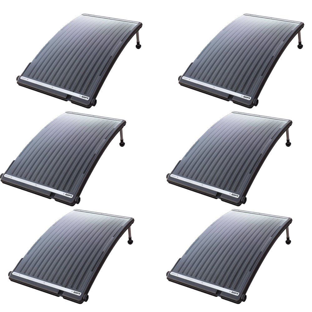 GAME SolarPRO Curve Heater For Above Ground Swimming Pools Up To 30' (6 Pack)