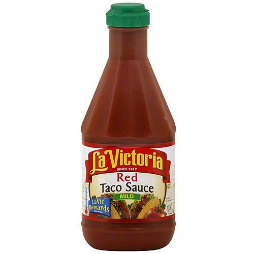 La Victoria Mild Red Taco Sauce, 15 oz (Pack of 12)