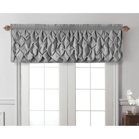 VCNY Home Pintuck Textured Carmen Rod Pocket Window Valance ()