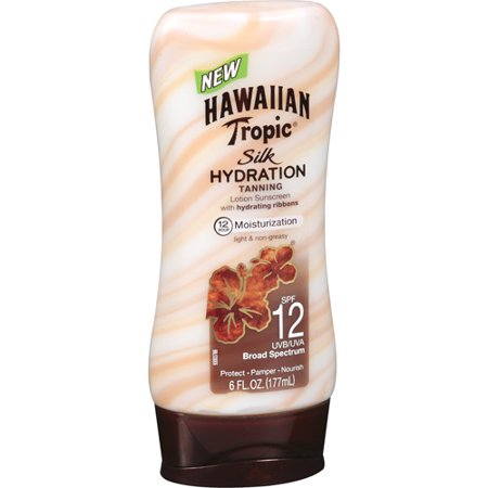 Hawaiian Tropic Silk Hydration Lotion Sunscreen Broad Spectrum SPF 12 - 6 Ounces