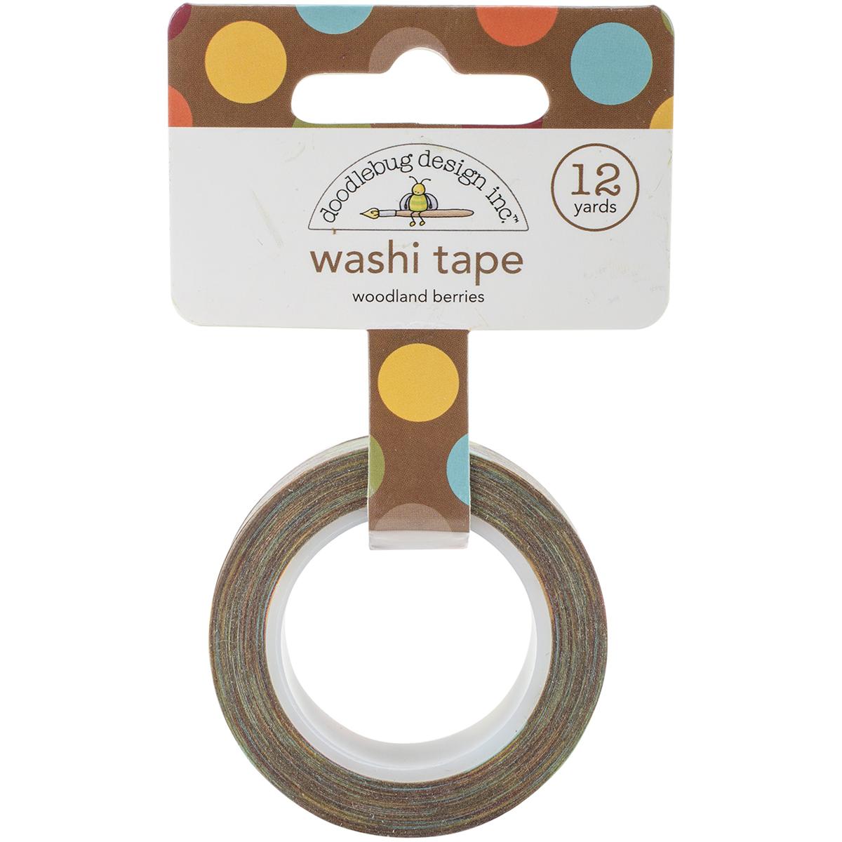 Doodlebug Washi Tape 15mm X 12yd-Fall Friends Woodland Berries
