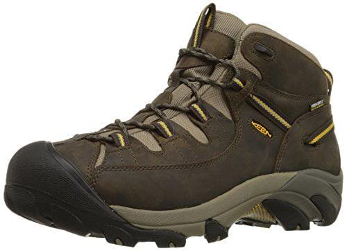 KEEN Men's Targhee II Mid Waterproof Hiking Boots (Black Olive, 8.0) by Keen