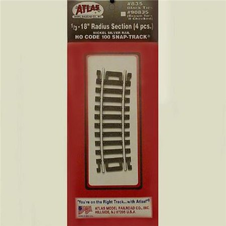 Code 100 Rail - Atlas-Code 100 Curved Snap-Track(R) Nickel-Silver Rail -- 1/3 Section, 18