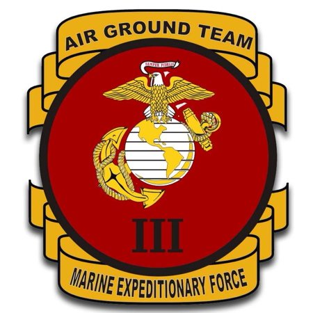 3.8 Inch 3rd Marine Expeditionary Force Sticker